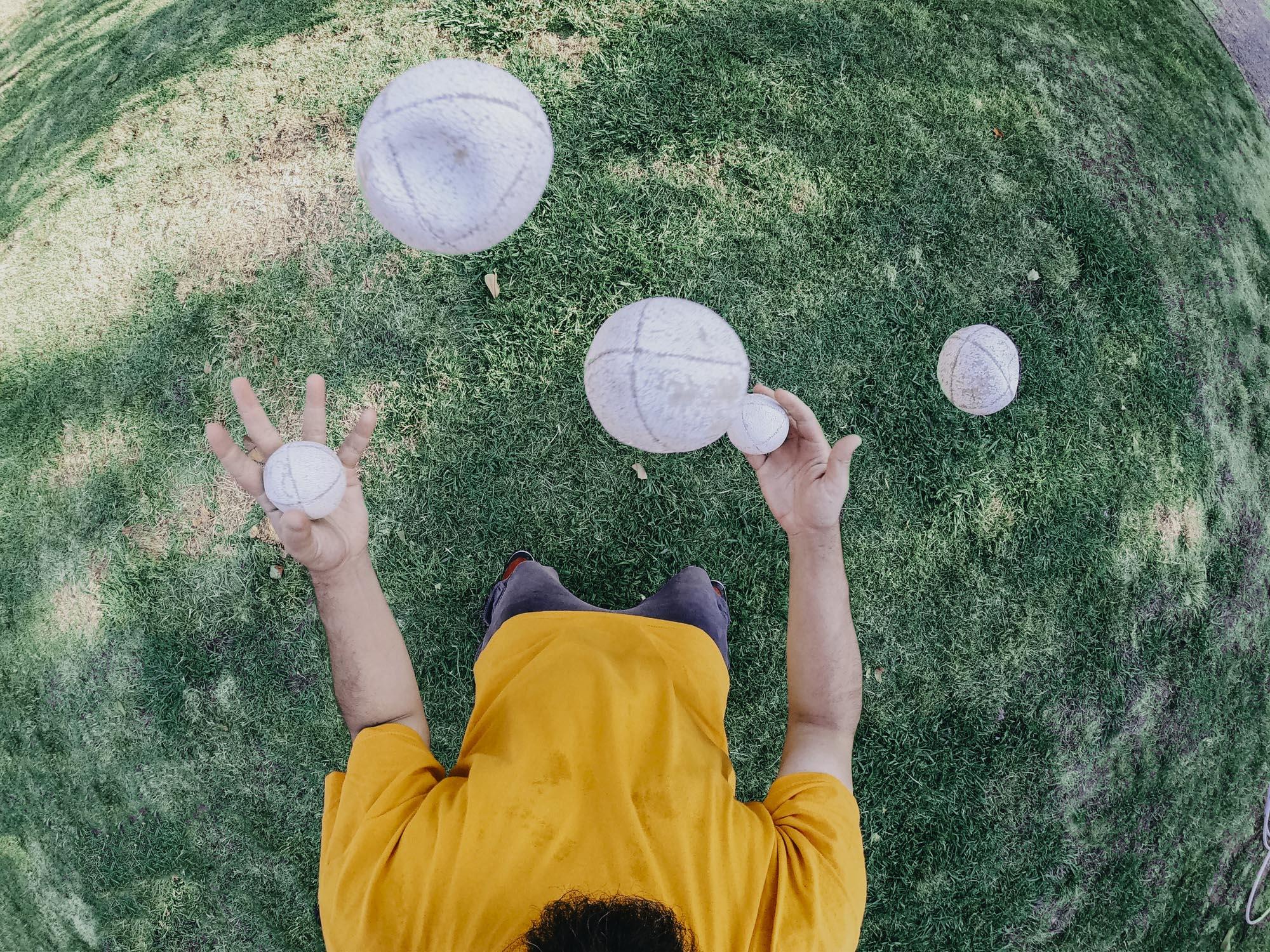 Ballen in de lucht houden